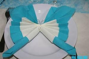 Pliage De Serviette Papillon : pliage de serviettes papillon val elle rit ~ Melissatoandfro.com Idées de Décoration