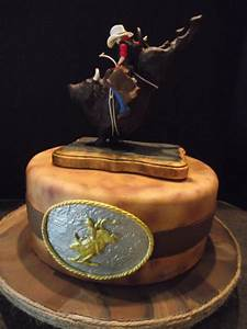 Western Cowboy Bull Rider Rodeo Cake - CakeCentral com