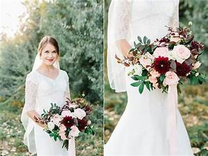 Burgundy And Blush Wedding Flowers At The Bungalow In