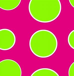 Pink and Green Polka Dots | Lime Green Dots Fluroscent ...