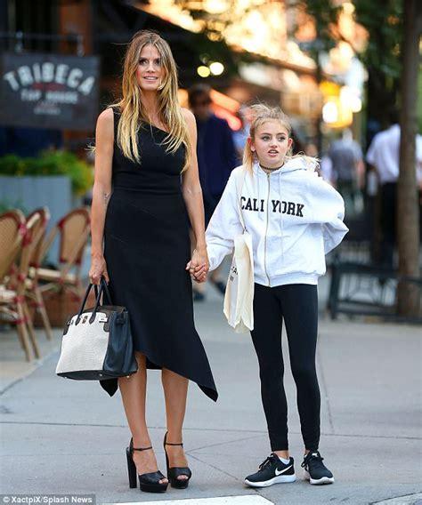 Heidi Klum Runs Errands With Mini Daughter Leni Nyc