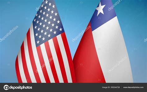 verenigde staten chili twee vlaggen samen blauwe