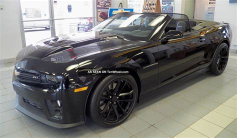 Black Convertible Camaro by 2013 Chevrolet Camaro Zl1 Convertible Black Black