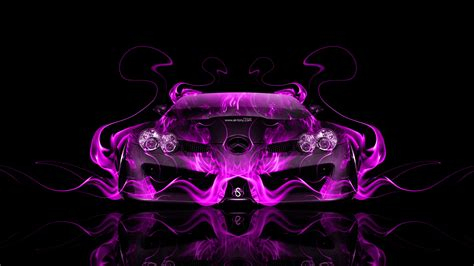 mercedes benz slr mclaren front fire abstract car