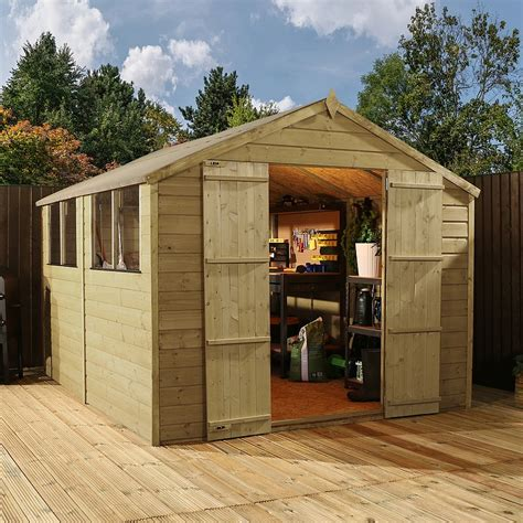 garden shed sales uk 12ft x 8ft waltons shiplap pressure treated apex wooden