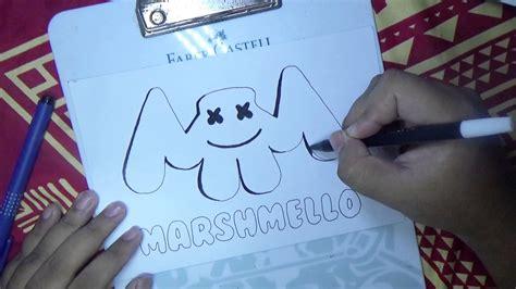 HOW TO DRAW MARSHMELLO LOGO YouTube