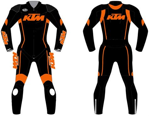 Ktm Motorbike Motorcycle Leather Racing 1 & 2 Piece Suit