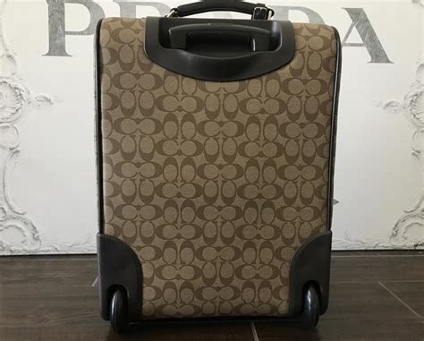 Coach Rolling Luggage: Classic Cc Brown/ Tan Canvas ...