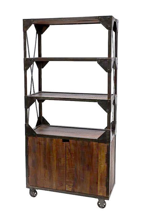 offerta libreria libreria industry legno e ferro con ruote offerta prezzo