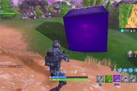 fortnites mysterious cube  moving    stop