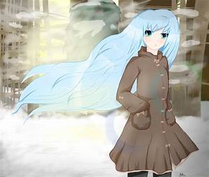 Anime girl in a winter forest. by KingParkz on DeviantArt