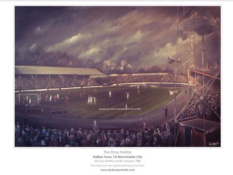 Halifax Town v Manchester City FA Cup 1980 A3 Unframed print