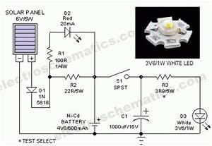 Portable Solar Powered Lantern Circuit