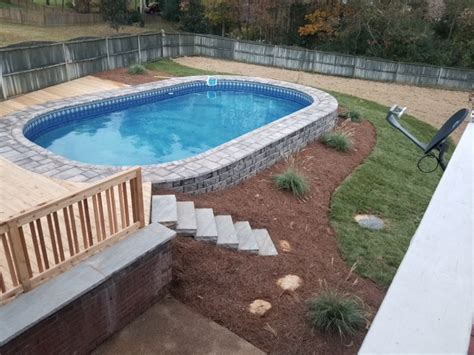 Semiinground Pools Clarksville  Stealth Pools Cookeville