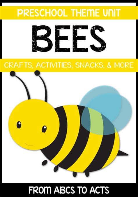 bees preschool theme from abcs to acts 854 | Bumblebee Preschool Theme