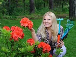 Giersch Im Rasen : joli femme de jardinier avec des outils de jardinage photo stock image 14616240 ~ Frokenaadalensverden.com Haus und Dekorationen