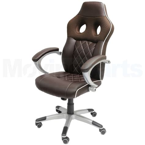 sale luxury brown office computer chair sport seat faux
