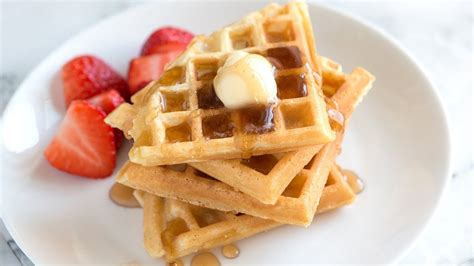 how to make the best waffles from scratch light and