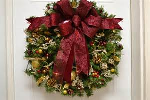 christmas wreath artificial pre lit led timered by tylerinteriors