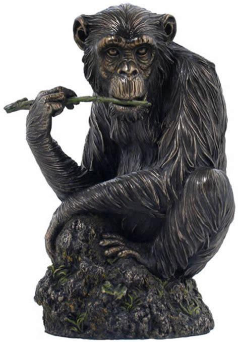 lone chimpanzee sculpture ape monkey sculptures statues