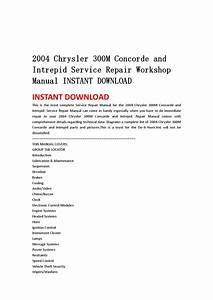 2004 Chrysler 300m Concorde And Intrepid Service Repair Workshop Manual Instant Download By