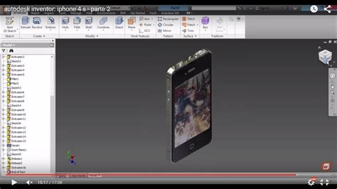 autodesk inventor iphone   parte  youtube