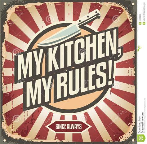affiche cuisine retro signe de cuisine de vintage illustration de vecteur