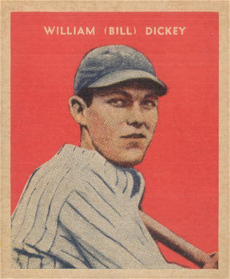 caramel bill dickey  baseball card