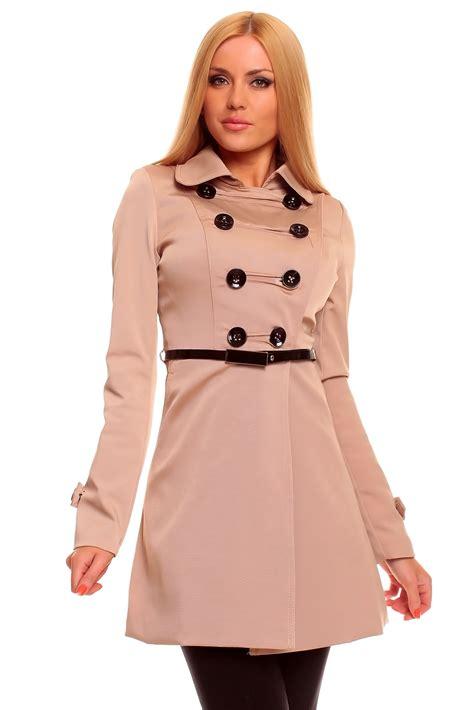 schicker mantel damen chic womens trench coat overcoat coat jacket blazer 4 colours ebay