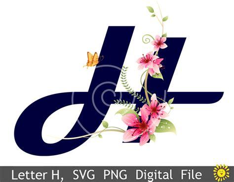 floral alphabet letters clipart vector svg png sv