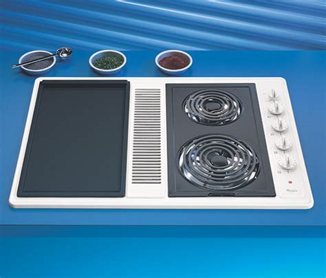 electric cooktop with vent whirlpool rc8700edw 30 inch coil electric modular cooktop