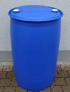 Kunststofftonne Mit Deckel : fass tonne wasserfass regenwasserfass spundfass 200 l blau kunststoff ebay ~ Yasmunasinghe.com Haus und Dekorationen