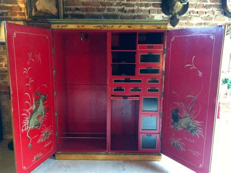 Japanese Armoire by Antique Chinoiserie Wardrobe Armoire Lacquer