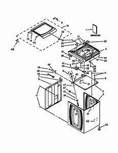 Top And Cabinet Parts Diagram  U0026 Parts List For Model Mvwb725bw0 Maytag