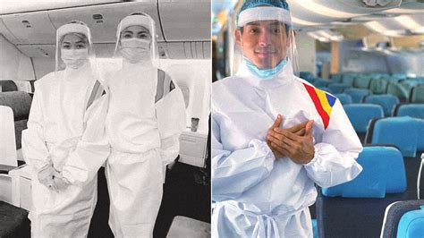 philippine airlines cabin crew wears ppe suits