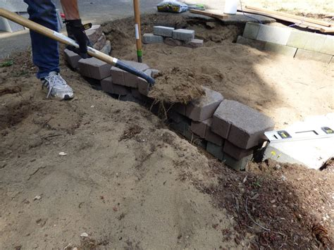retaining wall backfill material how to lay a retaining wall with blocks