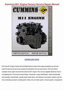 Cummins M11 Engine Factory Service Repair Man By