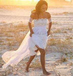 simple strapless beach wedding dress off the shoulder lace With simple off the shoulder wedding dresses