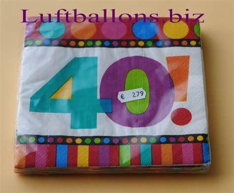 servietten zum 40 geburtstag papierservietten tischdekoration happy birthday dots and