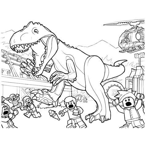 Kleurplaat Indominus Rex by Leuk Voor Mensen Vluchten Voor De Woeste Indominus Rex