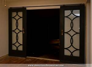 my finished sliding barn door style french doors With barn door style french doors