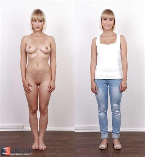 Nackt und bekleidet fotos