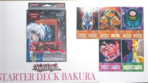 yugioh bakura deck 2014 yu gi oh bakura structure deck