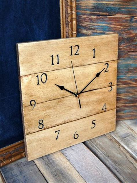 happy  artistic pallet wooden clock pallets designs