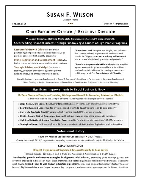 It Executive Resume Sles by Executive Resume Sles By Award Winning Writer
