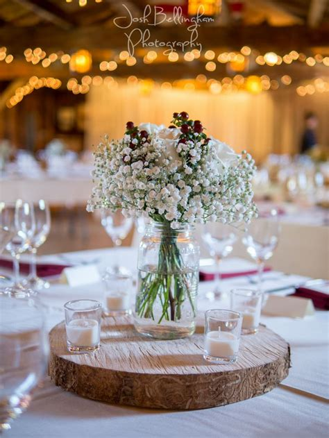 result for burgundy table cloths baby s breath jars centerpieces quot in january we