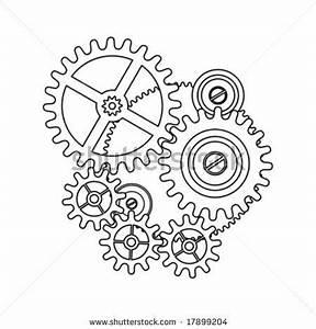 clock gear shape blueprint outline by sgame, via ...