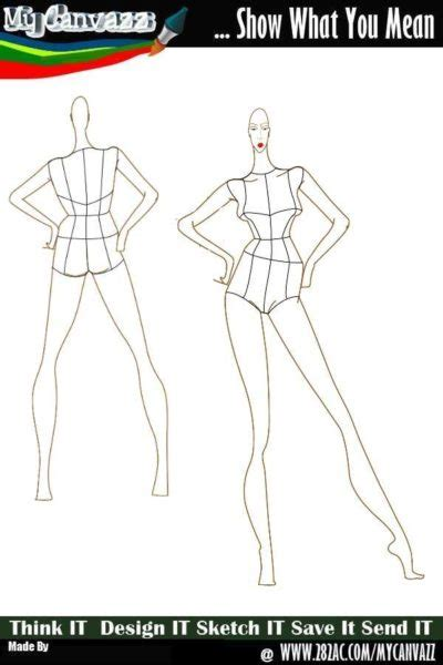 Fashion Templates Front And Back by The Gallery For Gt Fashion Figure Templates Front
