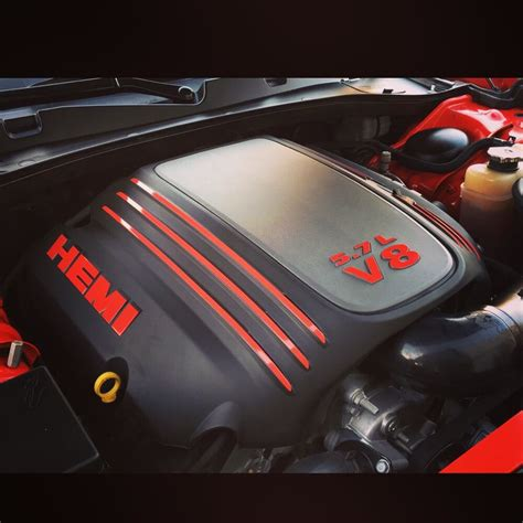 dodge   hemi engine cover decal kit challenger