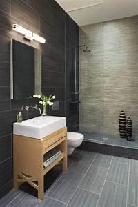 les 25 meilleures idees de la categorie salles de bains With salle de bain gris fonce